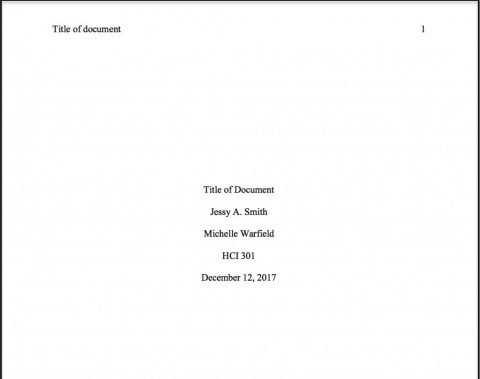 Correct cover page essay apa thesis paper format